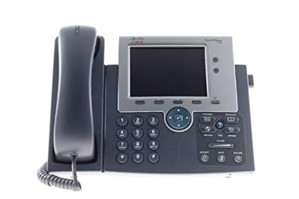 Voice-Over Telephone LCD Display Business Silver Grey New Cisco 4-Line IP Phone